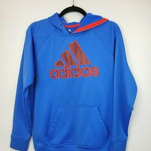Adidas Hoodie Striped Red Blue S